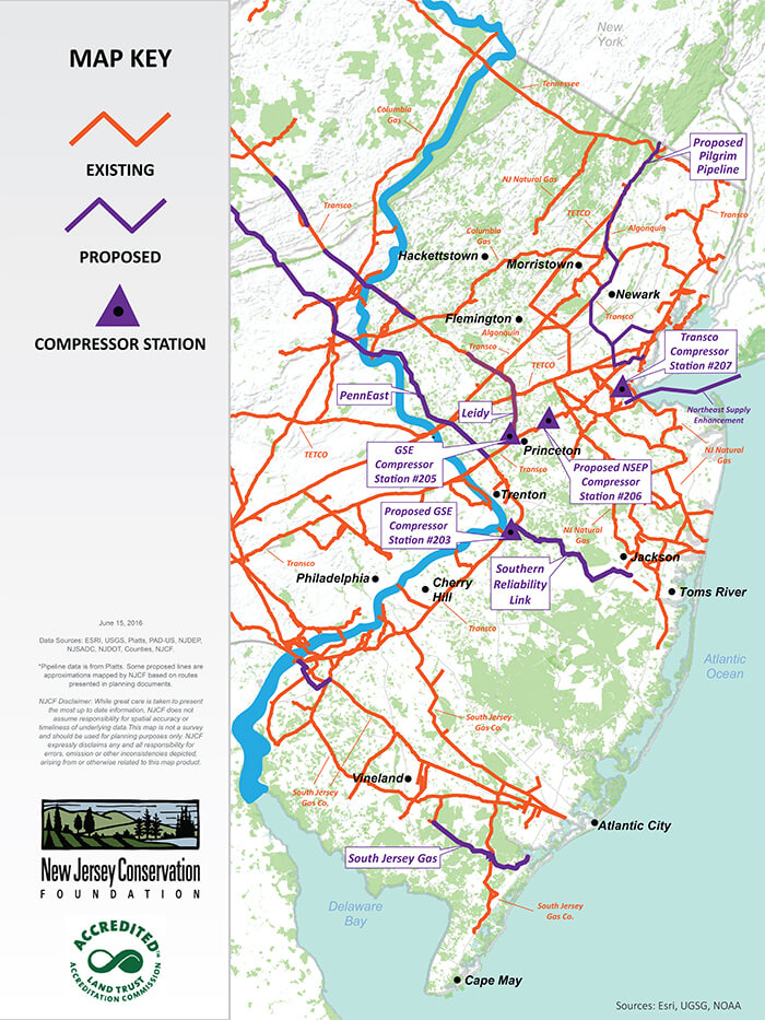Does New Jersey Need More Pipelines - South jersey map