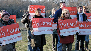 landowners PennEast pipeline eminent domain gas NJ