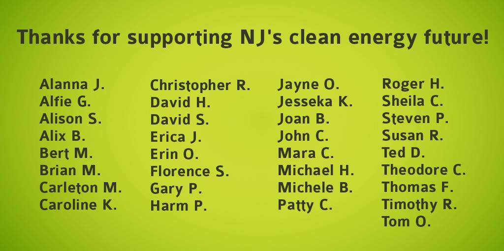 thank you donations stop PennEast clean energy NJ